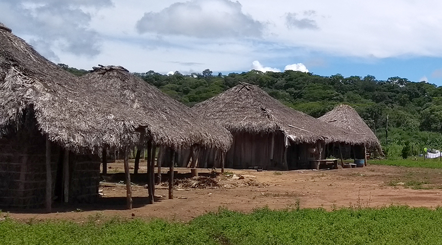 #PraCegoVer foto de aldeia indígena