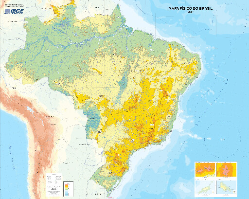 IBGE releases new version of Physical Map of Brazil ...